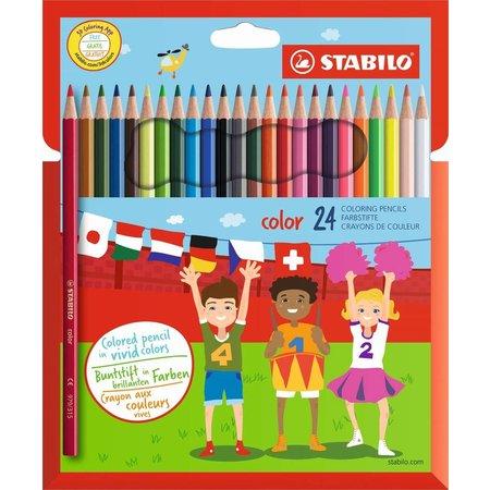 Stabilo Kleurpotloden Stabilo Color 24 stuks