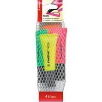 Markeerstiften Stabilo neon 4 stuks