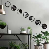 Muursticker RoomMates Phases Moon Chalk