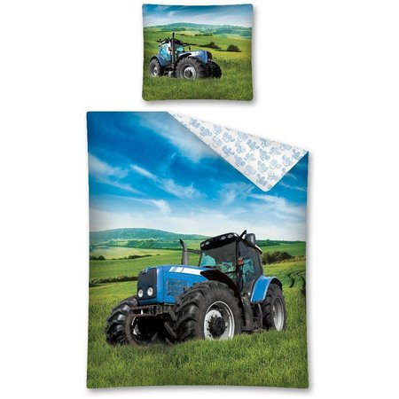 Non-License Dekbedovertrek tractor 140x200/70x80 cm