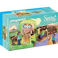 Pru en Chica Linda met paardenbox Playmobil