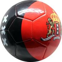 Bal Amsterdam leer groot rood met zwarte baan XXX