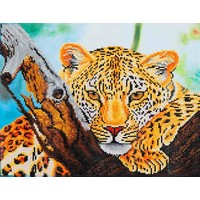 Leopard Look Diamond Dotz: 46x36 cm