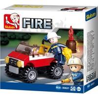Brandweer jeep Sluban 58 stuks