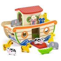 Ark van Noach Viga Toys: 34x25x16 cm