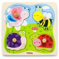 Puzzel hout Viga Toys Insecten 4 stukjes