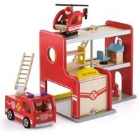 Brandweerkazerne Viga Toys 35x25x28 cm