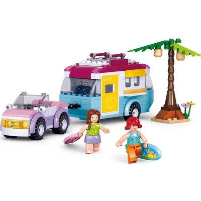 Sluban Auto met caravan Sluban 281 stuks