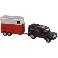 Auto pb Kids Globe Landrover met trailer
