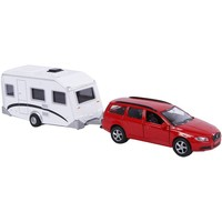 Auto pb Kids Globe Volvo V70 met caravan