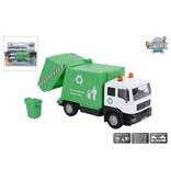 Kids Globe Auto pb Kids Globe vuilniswagen + licht/geluid