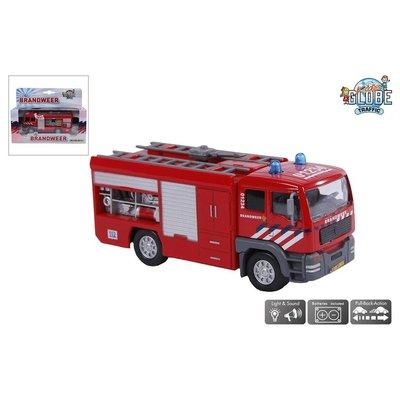 Kids Globe Auto pb Kids Globe brandweer + licht/geluid