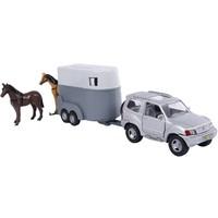 Auto 2-Play terreinwagen met paardentrailer