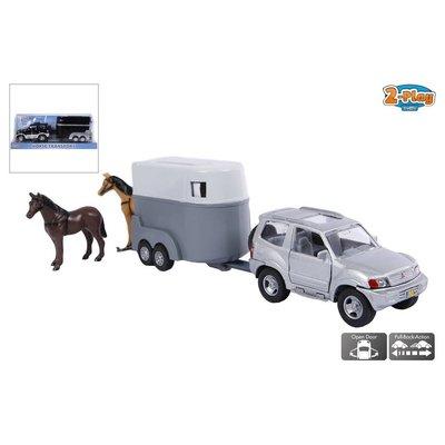 2-Play Auto 2-Play terreinwagen met paardentrailer