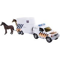 Auto 2-Play politieauto met paardentrailer