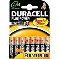 Batterijen Duracell Plus Power MN 2400 AAA: 8 stuks