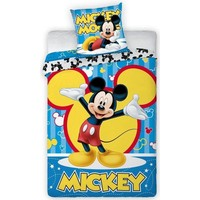 Dekbed Mickey Mouse bars: 140x200/70x90 cm