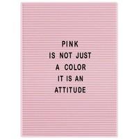 Letterbord Dresz 31x46 cm roze