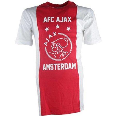 AJAX Amsterdam T-shirt ajax wit/rood/wit AFC maat 140