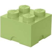 Opbergbox LEGO DESIGN brick 4 pastel geel SPRING