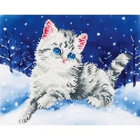 Kitten in the Snow Diamond Dotz: 35x27 cm