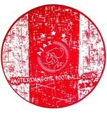 AJAX Amsterdam Deurmat ajax rood/wit 80x80 cm