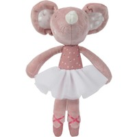 Pluche Tiamo balletmuis 27 cm roze