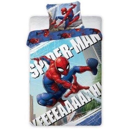 Spider-Man Dekbed Spider-Man yeeeeaaaaah 140x200/70x80 cm