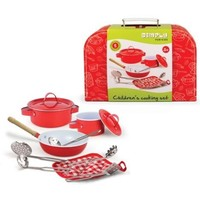 Kookset in koffer Simply for Kids rood