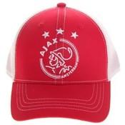 Cap ajax junior wit/rood/wit logo