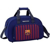 Sporttas barcelona rood/blauw: 40x25x23 cm