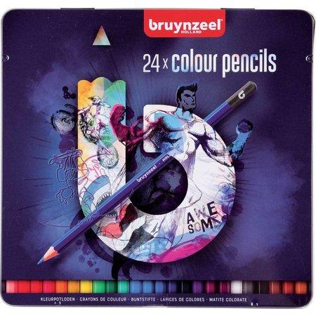 Bruynzeel Kleurpotloden Teens Bruynzeel blauw: 24 stuks