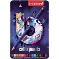 Kleurpotloden Teens Bruynzeel blauw: 12 stuks