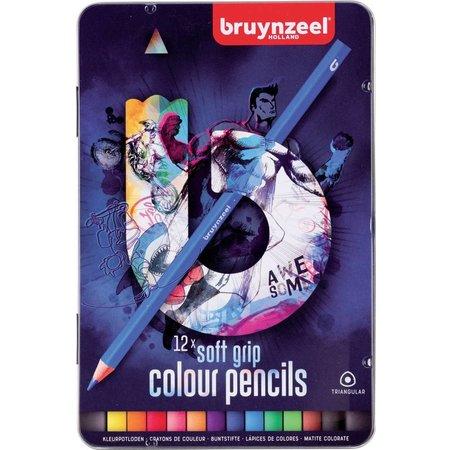 Bruynzeel Kleurpotloden soft Teens Bruynzeel blauw:12 stuks