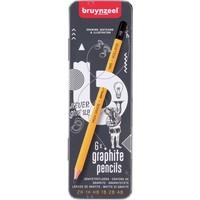 Grafietpotloden in blik Teens Bruynzeel: 6 stuks