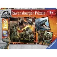 Puzzel Jurassic World Fallen Kingdom: 3x49 stukjes