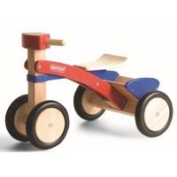 Massief houten trike met laadbak Pintoy 50x36x36 cm