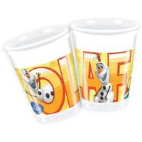 Bekertjes Frozen Olaf 200 ml: 8 stuks