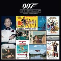Kalender James Bond 2019: 30x30 cm