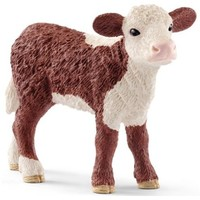 Schleich Hereford kalf 13868 - Koe Speelfiguur - Farm World - 7,6 x 2,3 x 5,3 cm