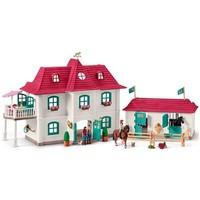 Schleich Huis met paardenbox 42416 - Paard Speelfigurenset - Horse Club - 96 x 24 x 42 cm