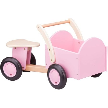 New Classic Toys Bakfiets New Classic Toys: roze 66x36x38 cm