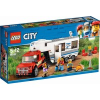 Pick-up truck en caravan Lego