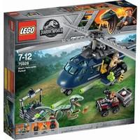 Helikopterachtervolging van Blue Lego