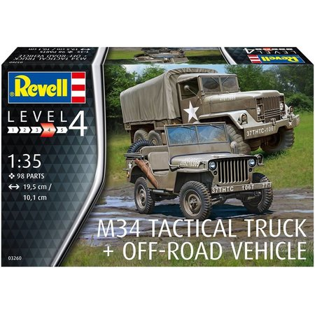 Revell Militairy M34 Tactical Truck & Jeep Revell: schaal 1:35