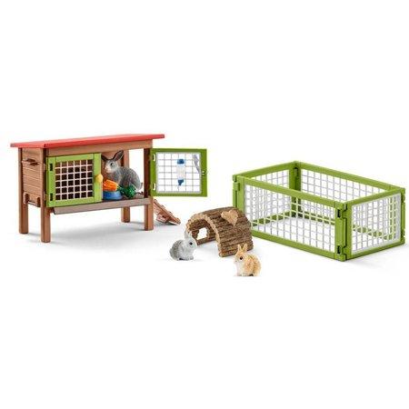 Schleich Schleich Konijnenhok 42420 - Speelfigurenset - Farm World - 25 x 10 x 16 cm