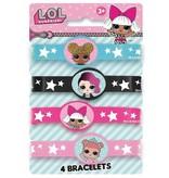 L.O.L. collectibles Armbandjes rubber L.O.L. 4 stuks