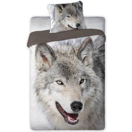 Non-License Dekbed Wolf 140x200/70x80 cm