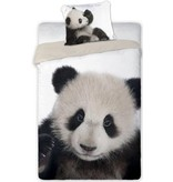 Non-License Dekbedovertrek Panda 140x200/70x80 cm