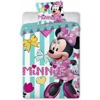 Dekbedovertrek Minnie Mouse ledikant hearts 100x135/40x60 cm